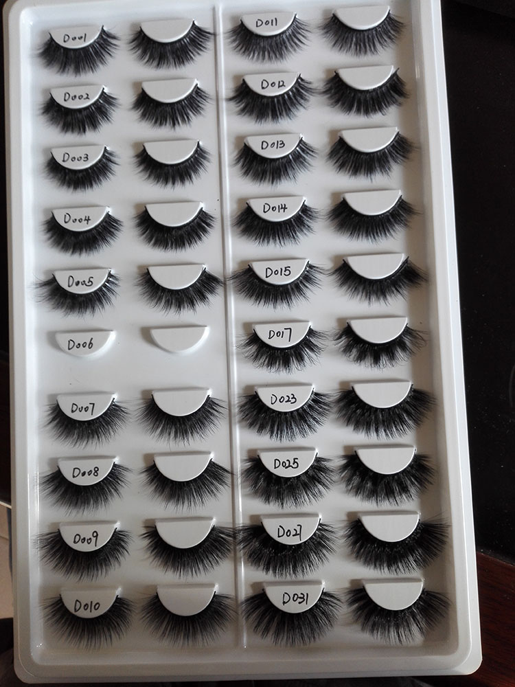 Mink Eyelashes dark long Mink lashes private custom labels 3d eyelashes extension
