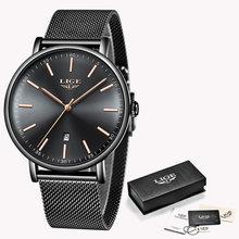 LIGE женские часы Топ бренд Роскошные водонепроницаемые часы модные женские ультра-тонкие повседневные наручные кварцевые часы из нержавеющ...(Китай)