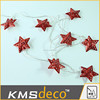 battery operate metal star string lights with transparent wire christmas home decor supplier