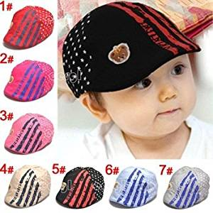73e5753e Wyhui Cute Kid Toddler Infant Boy's Baby Girls Hat Casquette Peaked  Baseball Beret Cap Red