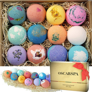 Amazon supplier sets of 12 low MOQ private label bath bombs
