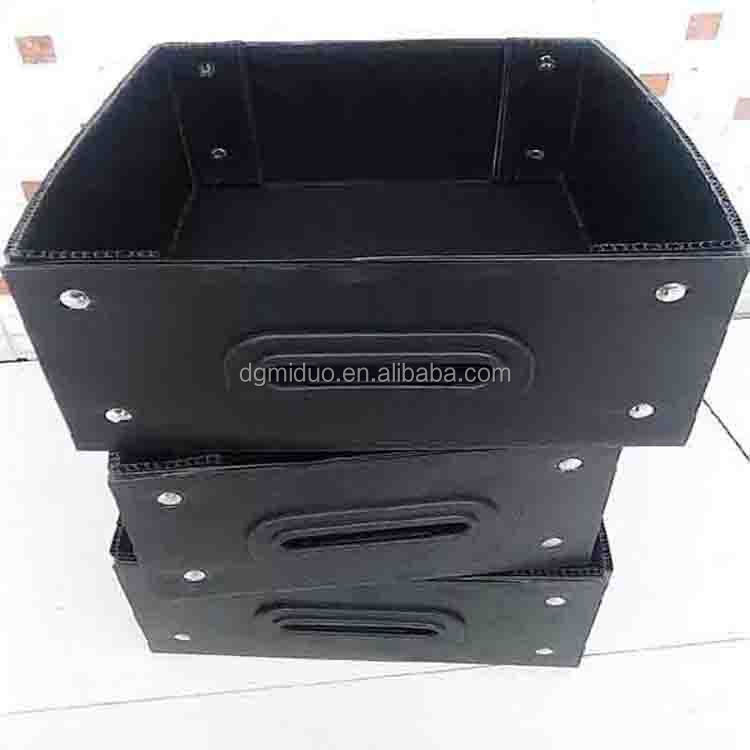 ESD antistatic PP corrugated black box for electronic products manufacturer