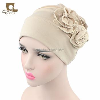 Nuove donne Slouchy rughe Cap floreale Cappelli del cotone per I Malati di  Cancro Chemio 55b952966816