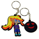 Factory directly sale 2D 3D eco friendly soft pvc rubber keychains with personalized design