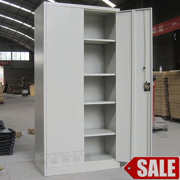 2 Swing Door Used Metal File Cabinets Legal Size