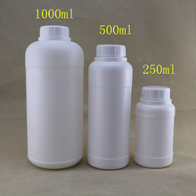 HDPE bottle 1000ml /1L e liquid bottle HDPE white tamper ring cap opaque HDPE plastic bottle