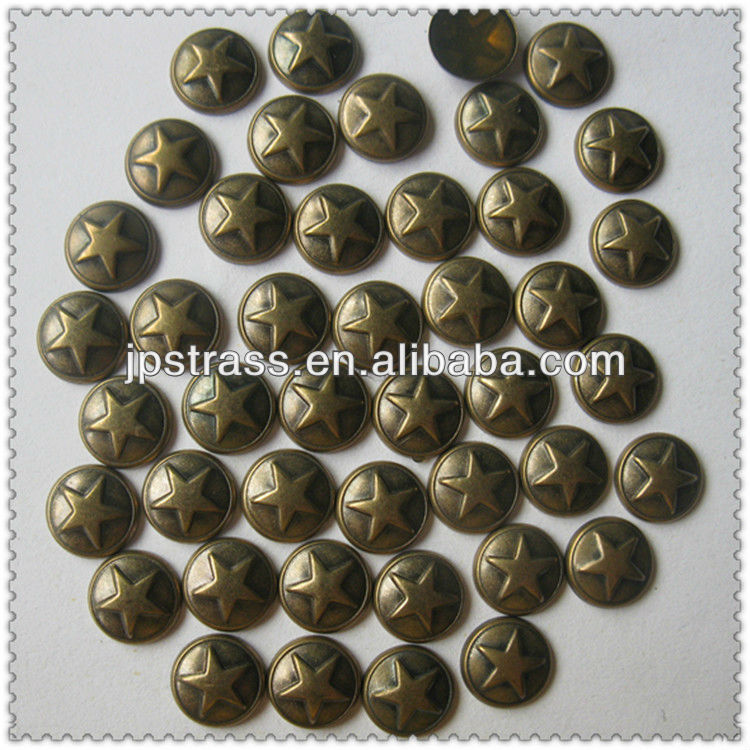 low price pyramic round shape metal dome studs for clothing