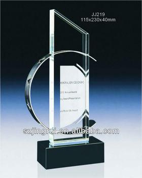 Unique Design Blank Crystal Glass Trophy Award Parts JJ219
