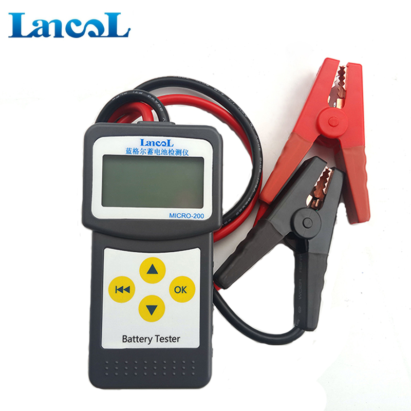 Digital battery tester 12V CCA lead acid battery tester MICRO-200 with printing function