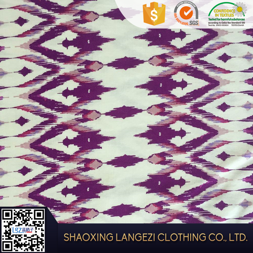 100 rayon printing wholesale muslin types of woven fabric