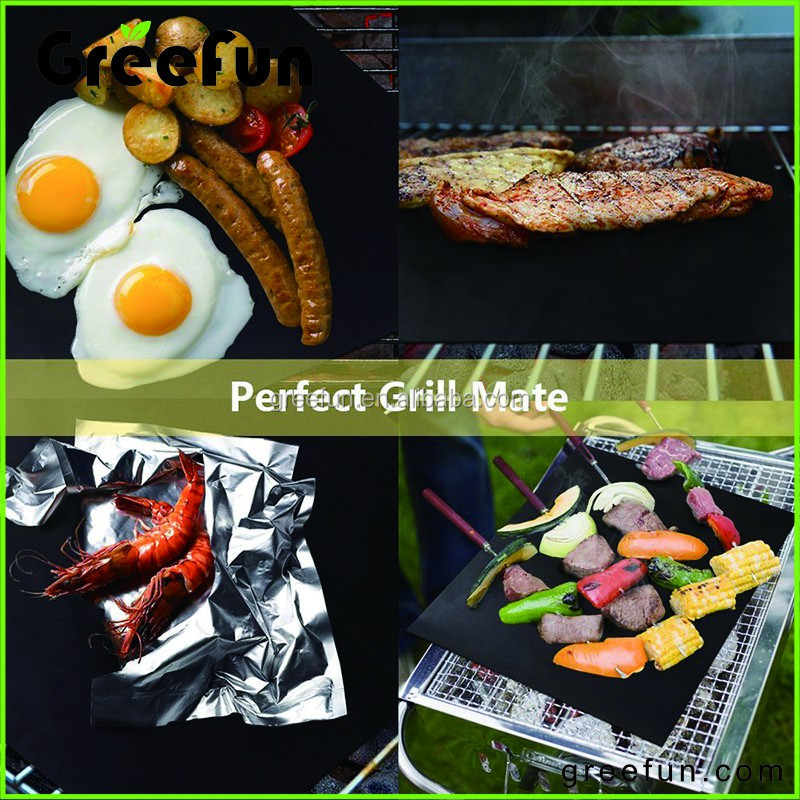 Custom Logo Gas Charcoal Electric Grill Bbq Teflon Ptfe Mat Barbecue Oven Baking Microwave