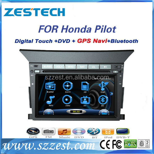 "ZESTECH wholesale OEM 7"" car dvd player for Honda pilot car dvd with 3g bluetooth TV tuner"