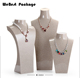 Webest top sale resin necklace bust jewelry display necklace display mannequin bust