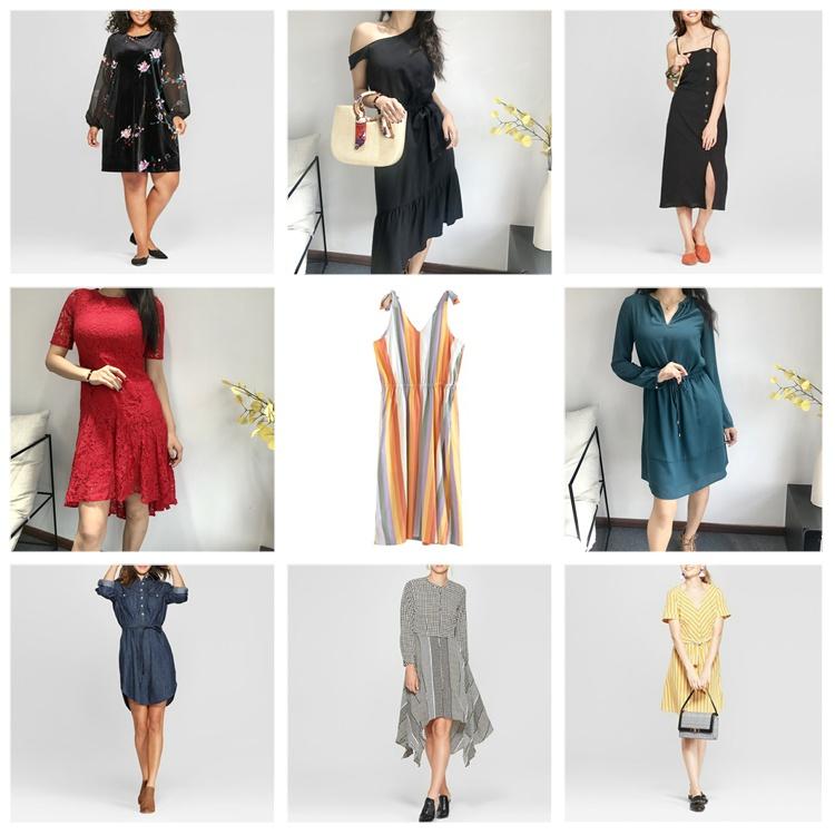 KEYIDI 2019 OEM Mode lässig sexy Kleider Damenbekleidung