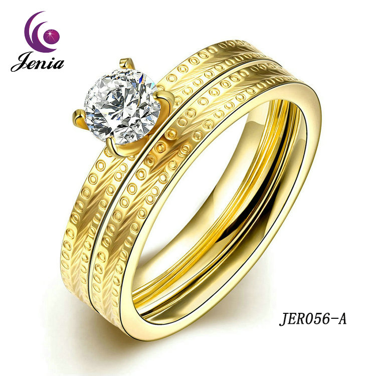 Jenia Popular Jewelry Jewellery Women Rings Plated 18k Gold Rings