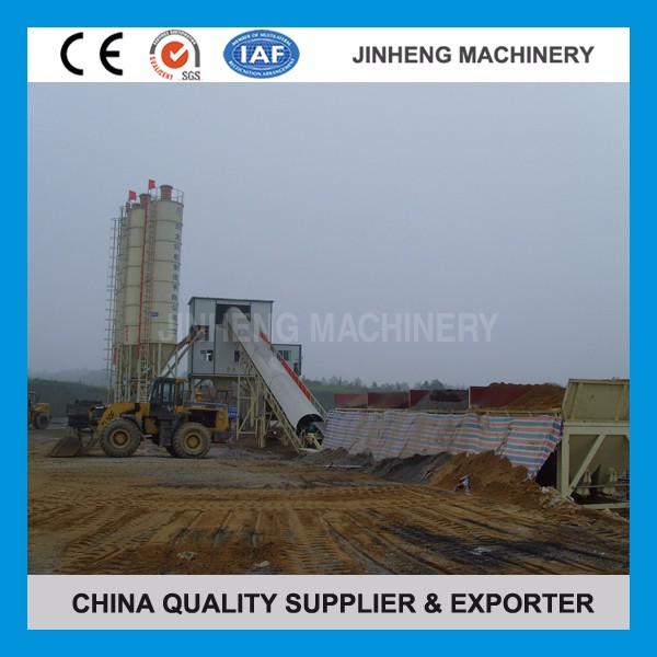 Cement batcher 90m3/hr hopper lift concrete batching plant HZS90