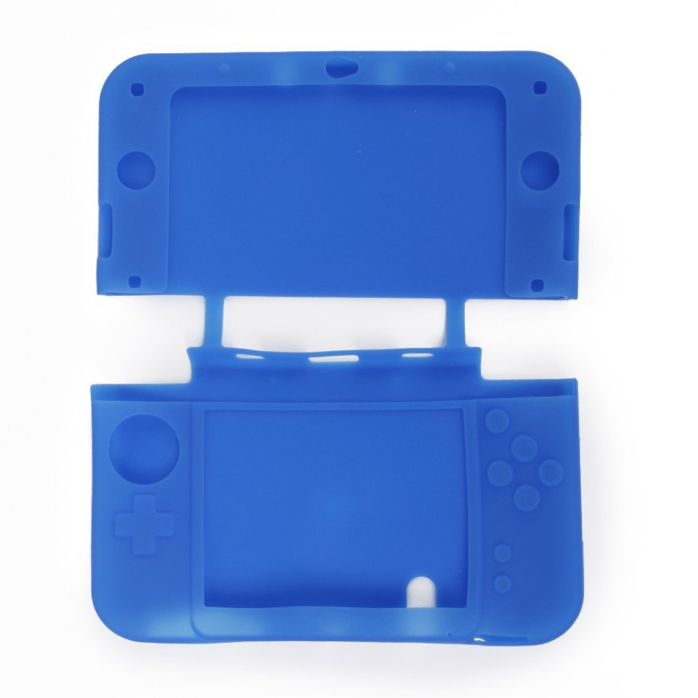 Silicone Generic Blue Protective Case Skin Cover Protector Guard for 3DS LL/XL
