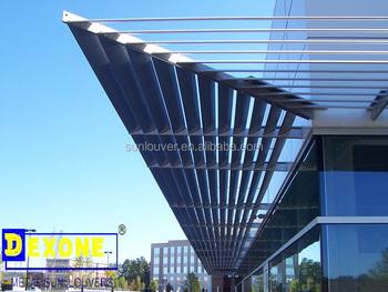 Aluminio Parasol Persianas Techo Rejilla Fija En El Muro