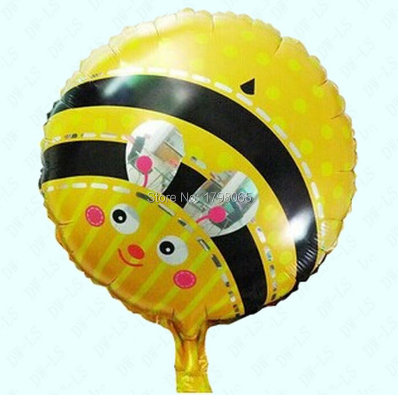 Get Quotations 50pcs Lot 18 Party Cut Little Bee Foil Balloon Inflatable Aluminum Tyranids Bees