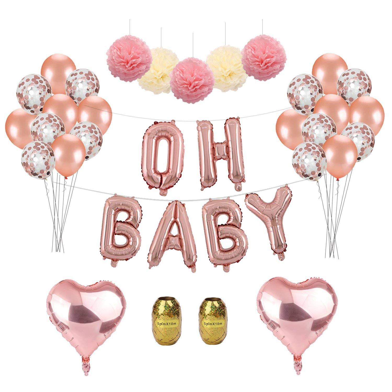 Foil Pink Baby Letter Balloon Banner Kit