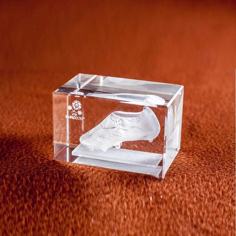 Fantastic customized 3d laser square crystal optical glass photo cubes