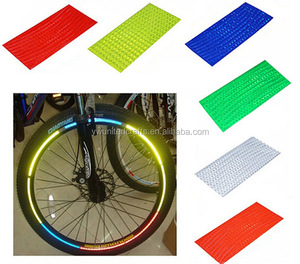 Bike Car Wheel Reflective Tapes High Reflection Stickers Rim Glow In The Dark Reflective Stickers
