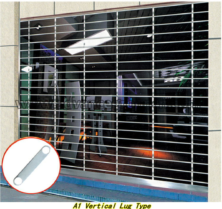 2017 Hot Sale Commercial Shop Front Security Grill Door / Stainless Steel Roll  Up Grill Doors