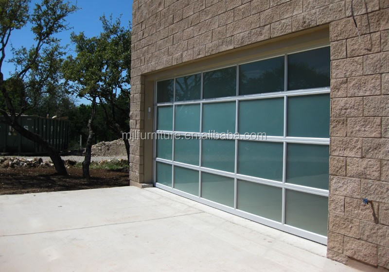 Commerical Frosted Glass Sectional Garage Doorsaluminum Glass