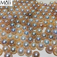 Strong Luster 7-8mm Round Freshwater Cultured Loose Pearls from China