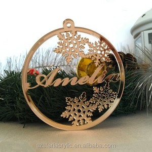 Personalised Acrylic Bauble Christmas Name Tree Decoration Christmas Ornaments