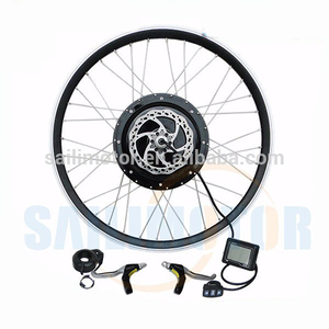 low cost 1000w front wheel electric bicycle motor conversion kit with built in controller