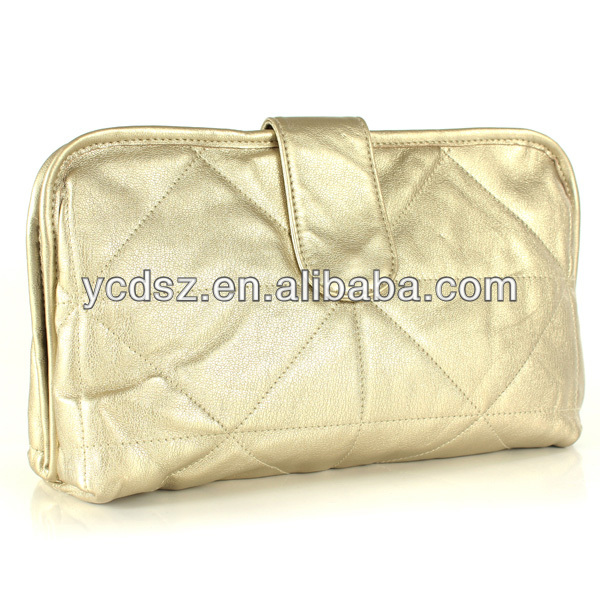 Newest party golden ladies purse and clutch wholesale