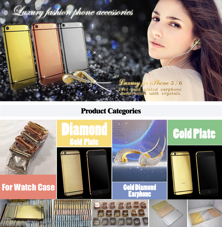 For iPhone11 pro gold plated housing with zircon mobile phone housing