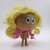 Customized  3D figure cartoon baby vinyl toy with real hair
