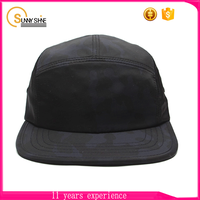 New style Custom fashion character Black Softxile 5 Panel Cap Promotion