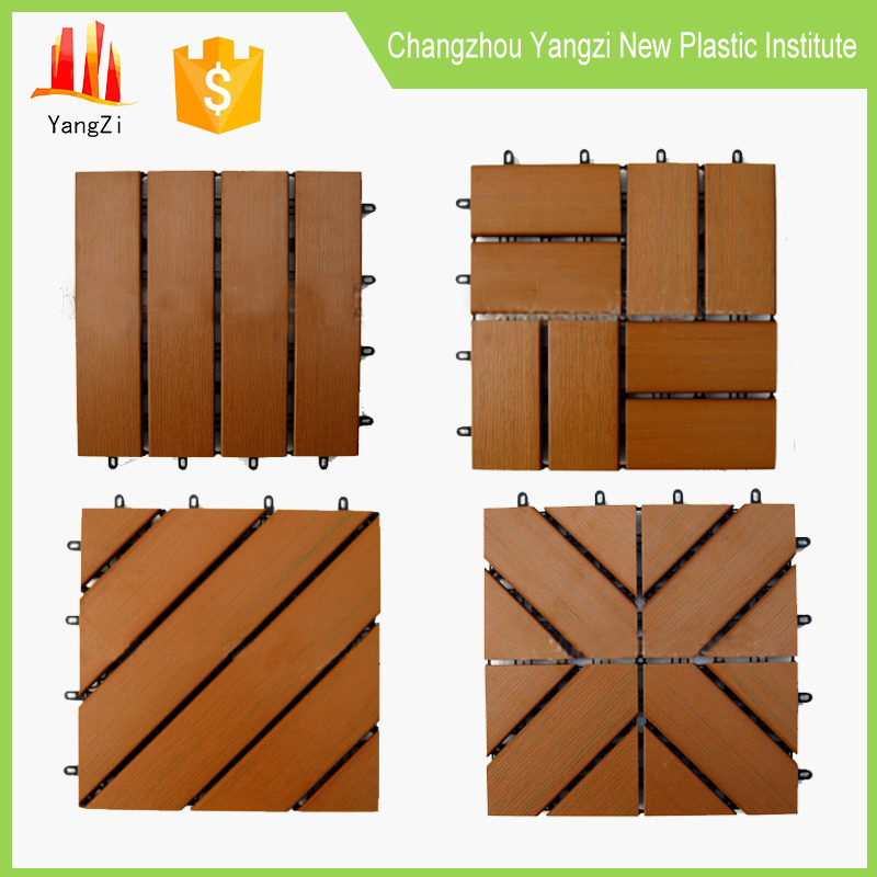 Outdoor poly styrene plastic sythetic wood slatted <strong>flooring</strong>