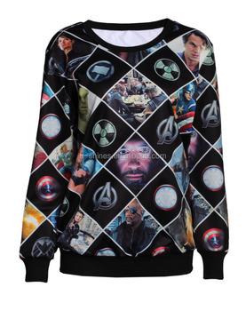 Womens Movie 3D Printing Seamless O-Neck T-shirts Ladies Long Sleeves  Sweatshirt Nylon 92de4b5c3c