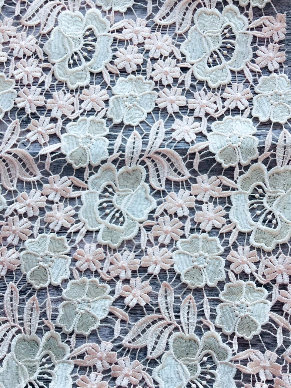 white & light orange wanter soluble 3d flower lace embroidered fabric