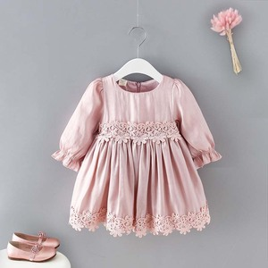 New Model Kids Clothes long sleeve Ball Gown dress for girls