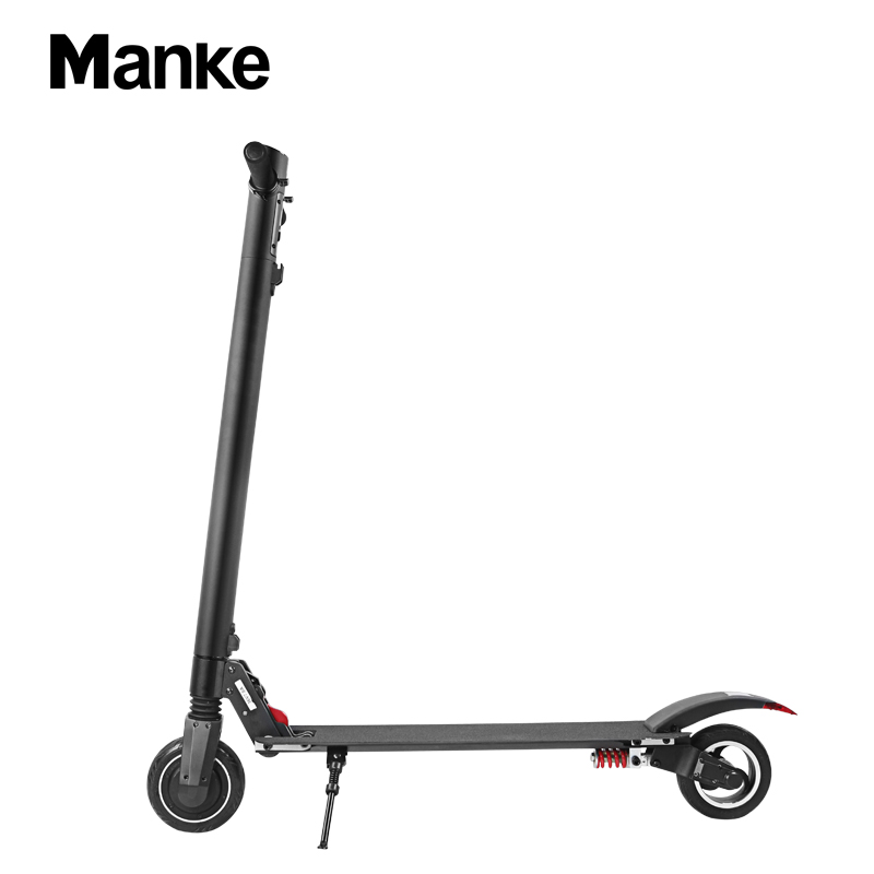 Manke MK105 electric kick scooter 36V 9.6AH lithium battery electric scooter folding mini 2 wheels Kick Scooter Adults, Black/white