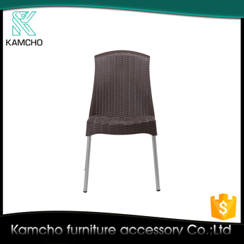 KAMCHO Aluminum Leg Plastic Seat Outdoor Stackable Chairs XL808