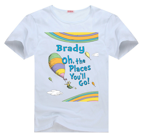 Dr Seuss Kids Shirts: Dr.Seuss Oh The Places You'll Go Tee T Shirt For Toddler