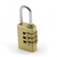 High Quality Suitcase Luggage Candado Padlock Small Brass Password 3 Key Codes 4 Codes Combination number Lock
