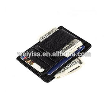 men id card holder money clip credit card case wallet genuine leather card holder - Money Clip Credit Card Holder