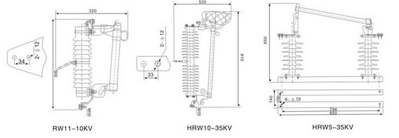 12kv drop out fuse high voltage fuse