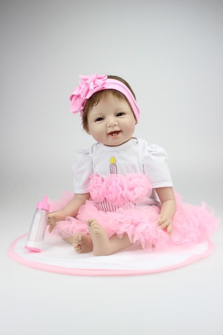Boneca De Silicone Bebe Reborn Linda Menina Princesa