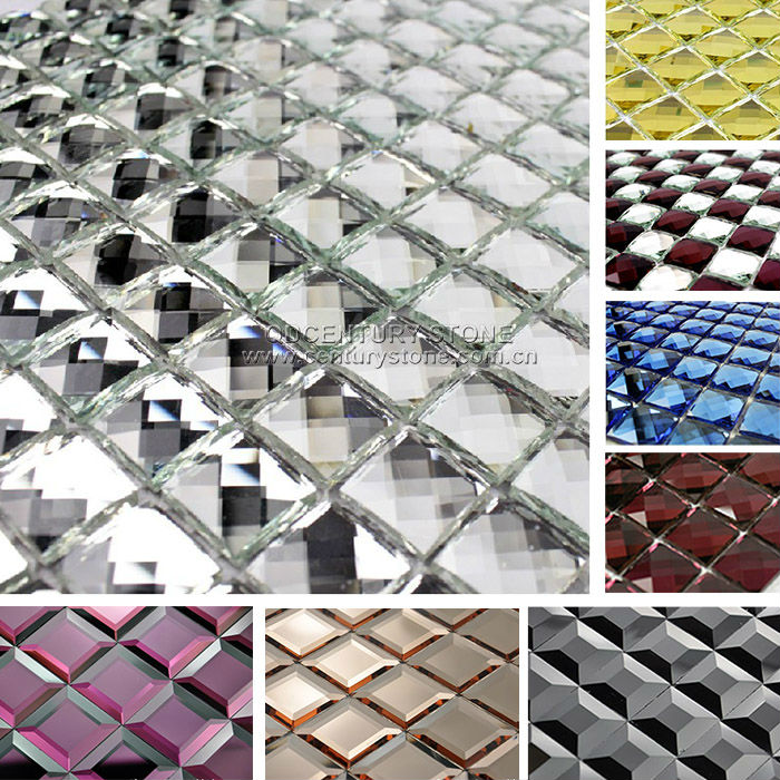 Silver Mirror Glass Mosaic Tile Backsplash Tiles Adhesive Beveled Mirror  Tiles   Buy Mirror Tile,Beveled Mirror Tiles,Adhesive Mirror Tiles Product  On ...