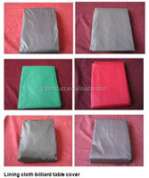 Different color, different size lining cloth billiard cover