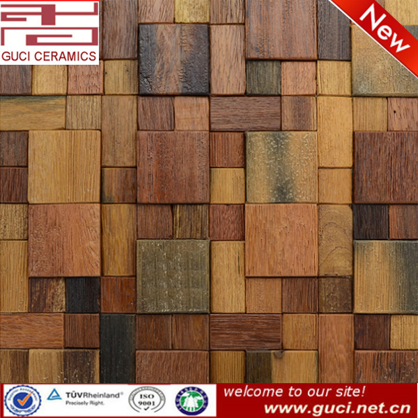 Wooden Floor Mosaics 300X300wood finished mosaic tile