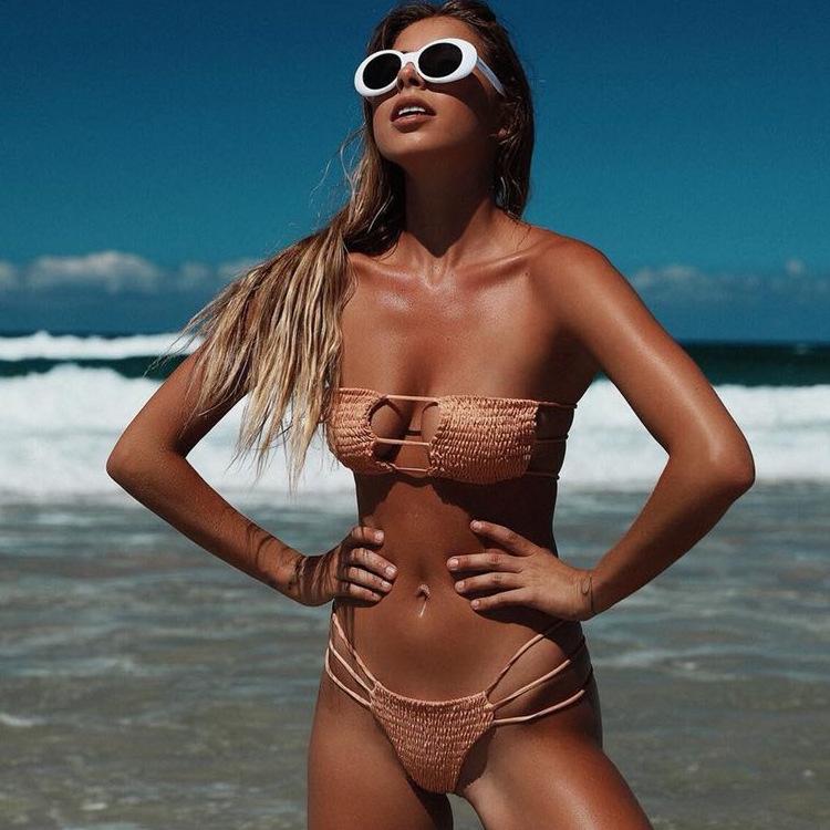 2020 Bán Buôn Áo Tắm Suối Nước Nóng Bán Sexy 2 Pieces Bikini Áo Tắm Thong Bộ Bikini
